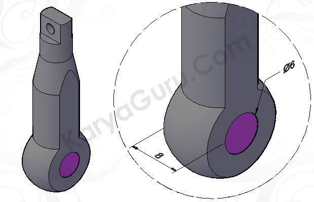 Tutorial AutoCAD CYLINDER_CYL Mechanical Part