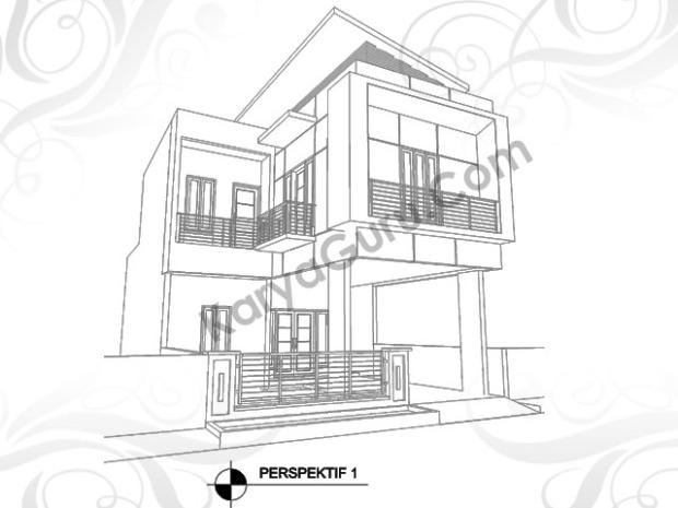 perspektif rumah minimalis 2 lantai
