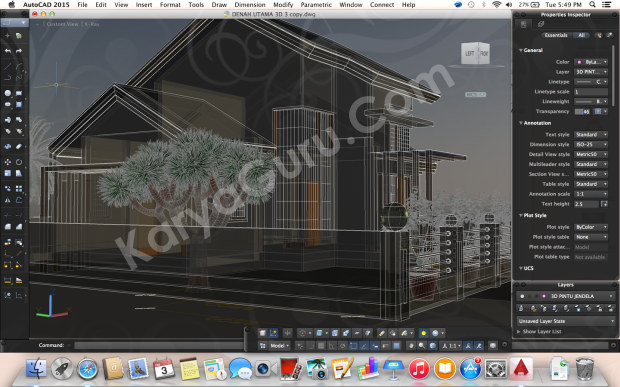 Kursus Private AutoCAD for Mac 3D Bondongan Bogor