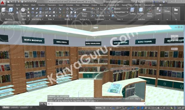 Kursus Rendering AutoCAD Interior Design