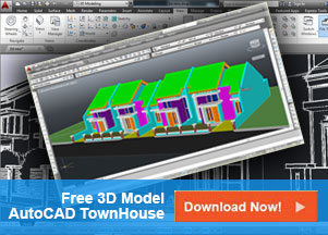 Free 3D Model AutoCAD TownHouse Minimalis