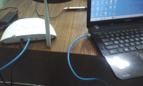 Setting TP-Link Wireless N Access point - UTP Cable - Laptop