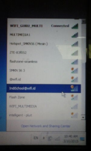 Sinyal IndiSchool@wifi.id 2bar