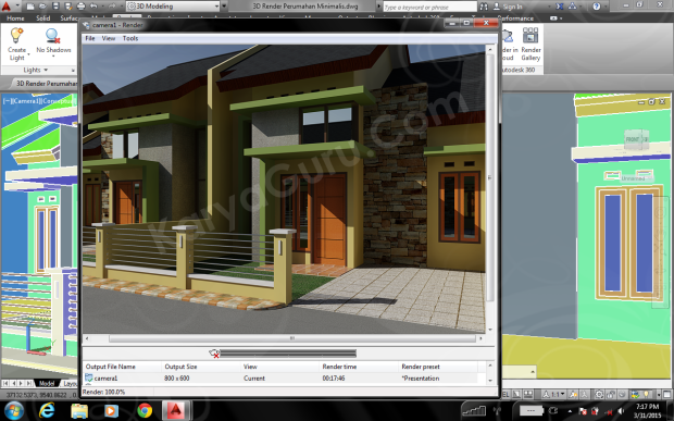 Training AutoCAD Rendering camera1