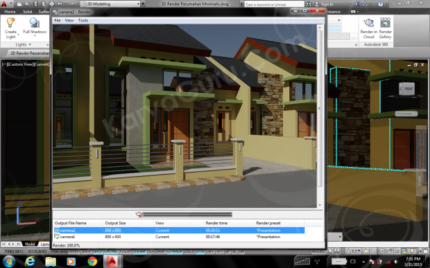 Training AutoCAD Rendering Camera2