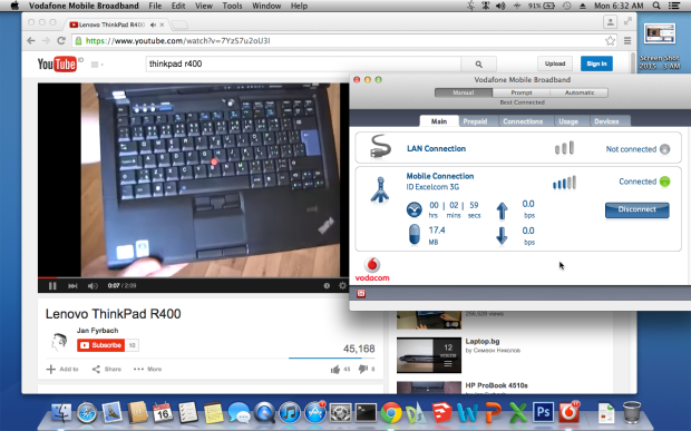 Youtube Os X MountainLion Lenovo ThinkPad R400