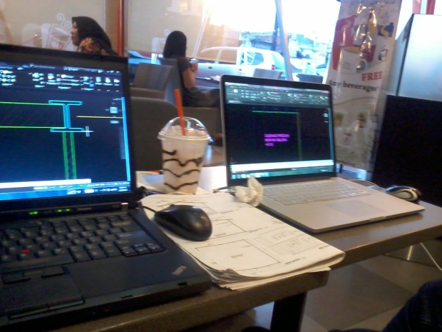 Kursus Private AutoCAD di Dunkin Donut Tamini Square Jakarta Timur.