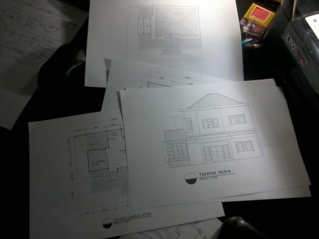 Kursus AutoCAD Print Skala Rumah Tinggal 2 Lantai