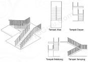 materi proyeksi ortogonal tangga