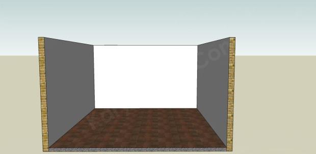 kondisi sebelum plafond gypsum terpasang