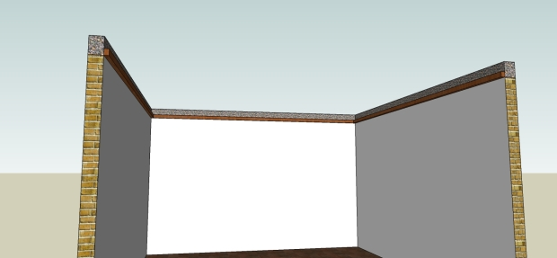 pemasangan rangka tepi plafond kaso 5x7