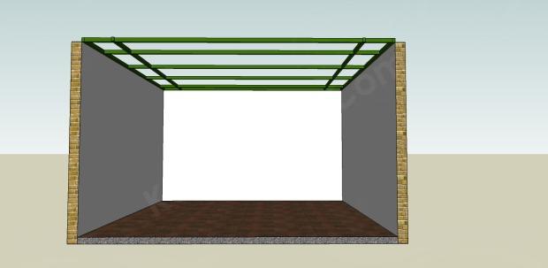 rangka plafond atas hollow 4x6