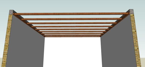 pemasangan rangka tengah plafond kaso 5x7