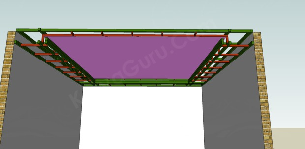 pemasangan plafond gypsum atas