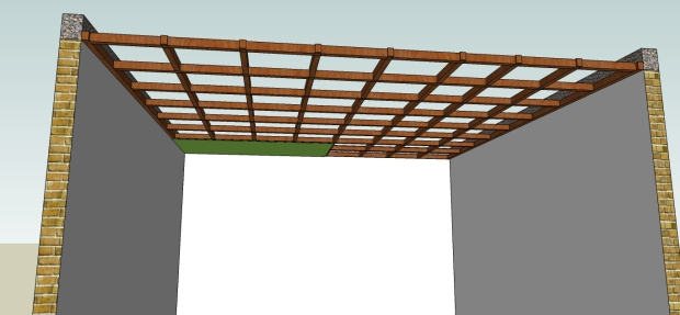 pemasangan triplek pada rangka plafond