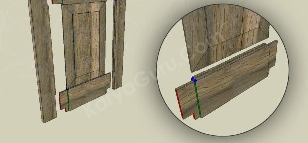 Sambungan Bawah Daun Pintu Panel