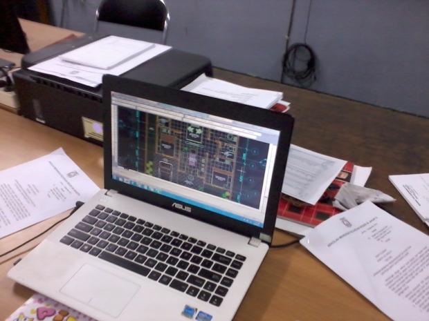 Training AutoCAD Denah Teknik Bangunan di SMKN 56 Jakarta Utara