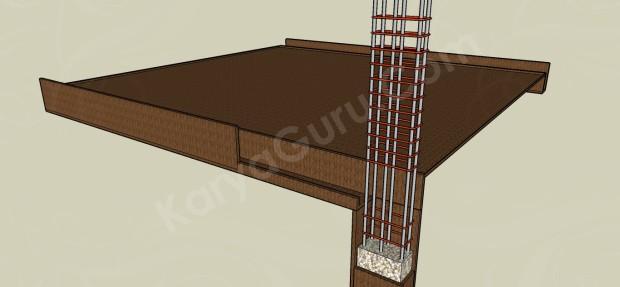 bekisting balok dan plat lantai atas