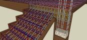 pembesian struktur beton bangunan - kolom balok tangga plat lantai
