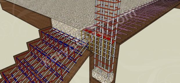 pengecoran balok dan lantai atas