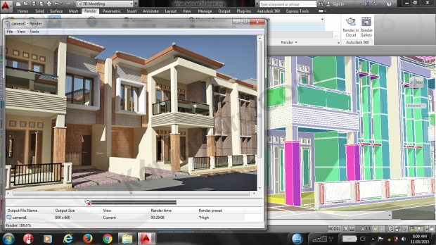 Camera1 Training AutoCAD 3D Rendering