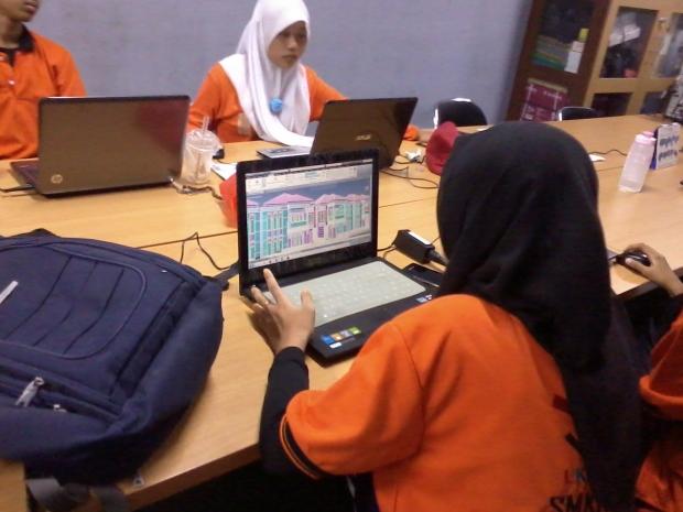 Kursus AutoCAD 3D Rendering Teknik Bangunan di SMKN Pluit Jakarta Utara