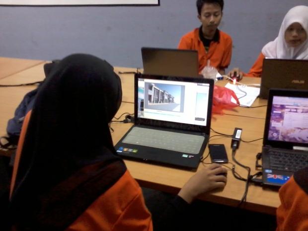 Training AutoCAD 3D Rendering Teknik Bangunan di SMKN Penjaringan Jakarta Utara