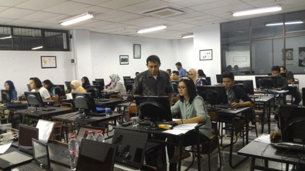 training autocad di teknik lingkungan fakultas arsitektur lansekap dan teknik lingkungan universitas trisakti