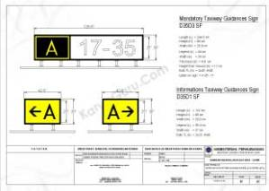 TAXI GUIDANCE SIGN SISTEM AIRFIELD LIGHTING (AFL) BANDAR UDARA