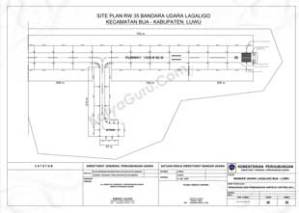 SITE PLAN RW 17 SISTEM AIRFIELD LIGHTING (AFL) BANDAR UDARA