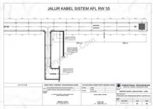 JALUR KABEL AFL RW 17 SISTEM AIRFIELD LIGHTING (AFL) BANDAR UDARA