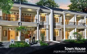 Desain TownHouse AutoCAD 3D Modeling Render + Photoshop Image Editing