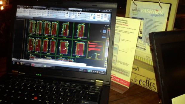Training AutoCAD Outdoor di Summarecon Mal Bekasi
