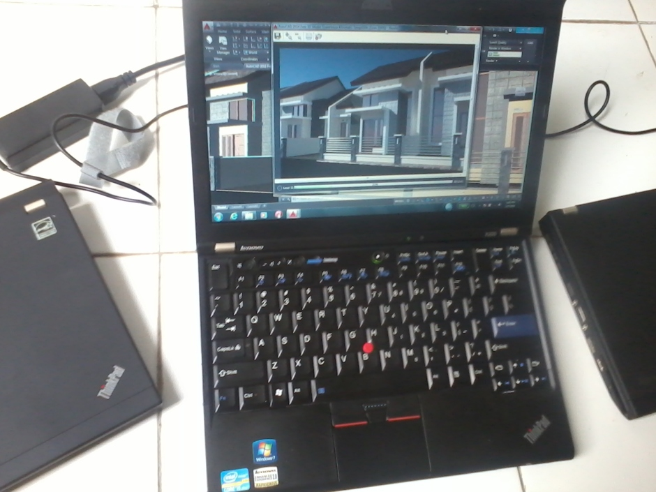 Jual Laptop Notebook Second Lenovo (IBM) Thinkpad X220 AutoCAD 3D Rendering