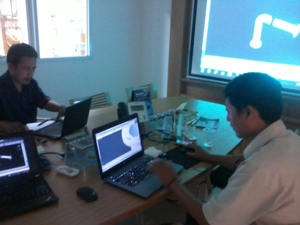 Training AutoCAD 3D Mechanical Piping Grundfos Pompa di Intirub Business Park Cililitan Halim