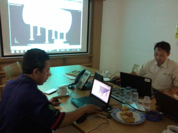 Training AutoCAD 3D Mechanical Tank Grundfos Pompa di Intirub Business Park Cililitan Halim