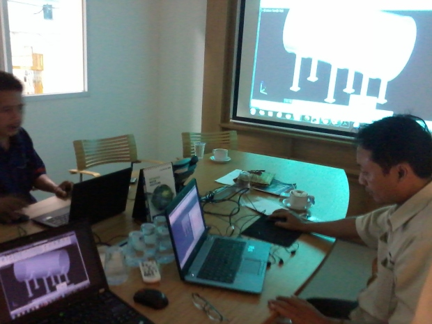 Training AutoCAD 3D Mechanical Tanki Grundfos Pompa di Intirub Business Park Cililitan Halim
