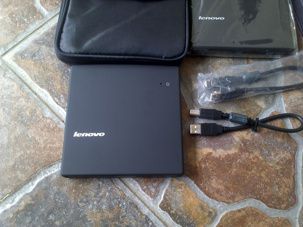 DVD CD RW External Lenovo Portabel + Bonus Softcase