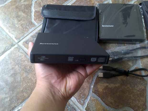 DVD CD RW External Lenovo Portabel + Softcase