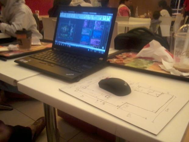 Kursus Private AutoCAD Survey Proyek rumahSakit di McDonald Cinere Depok