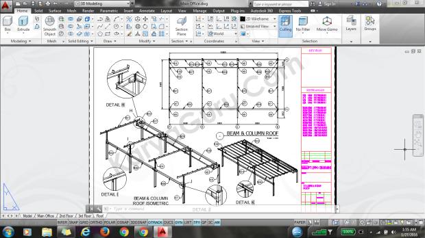 material part 3 kolom rafter atap baja