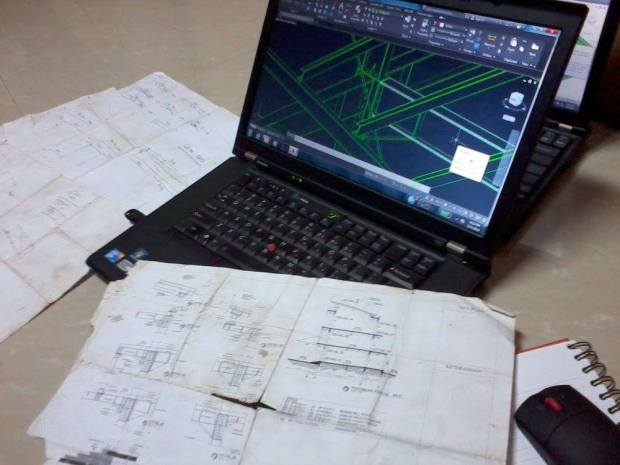 ShopDrawing Steel Construction for Fabrication & Erection - Office di Kawasan Industri Delta Silicon Cikarang
