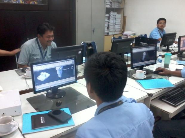 Training AutoCAD 3D materi Mechanical Engineering Kompas Gramedia Palmerah Jakarta Barat
