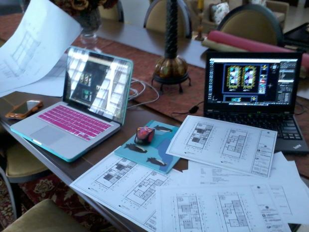 Hasil Latihan Print Denah Kursus Private AutoCAD for Mac di Komplek ExTimah Pancoran Jakarta Selatan
