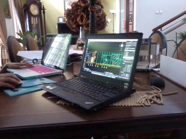 Latihan Tampak Bangunan Kursus Private AutoCAD for Mac di Komplek ExTimah Pancoran Jakarta Selatan