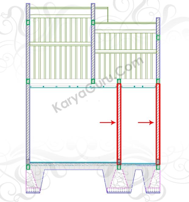 COPY DINDING - Tutorial Belajar AutoCAD Gambar Kerja Potongan Rumah Tinggal ShopDrawing Section