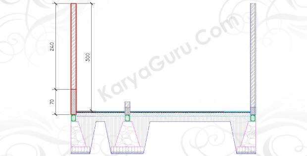 DINDING KIRI - Tutorial Belajar AutoCAD Gambar Kerja Potongan Rumah ShopDrawing Section