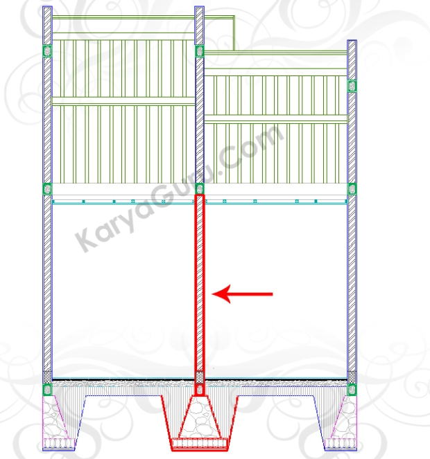 MOVE PONDASI SLOOF DINDING - Tutorial Belajar AutoCAD Gambar Kerja Potongan Rumah Tinggal ShopDrawing Section