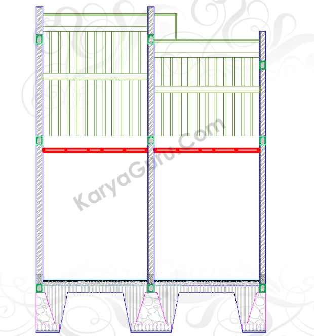 RANGKA PLAFOND - Tutorial Belajar AutoCAD Gambar Kerja Potongan Rumah Tinggal ShopDrawing Section