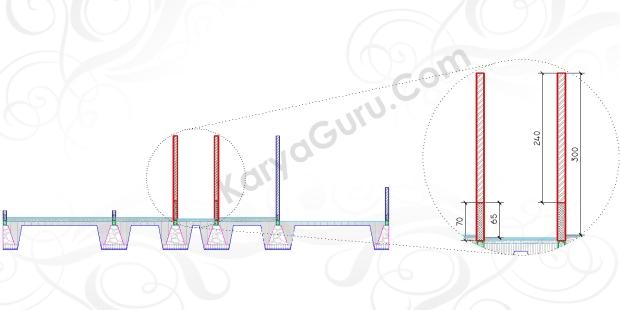 DINDING TOILET - Tutorial Belajar AutoCAD Gambar Kerja Potongan C-C Rumah Tinggal ShopDrawing Section
